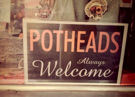 coffee shop, pothead, sign, stoner, welcome