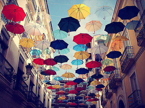 color, photography, umbrella