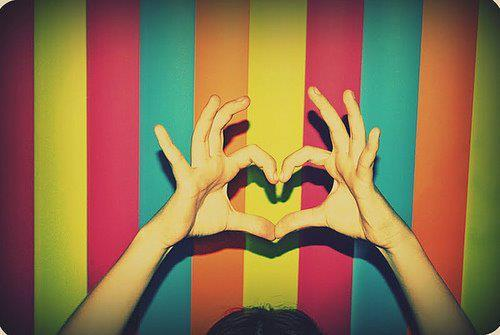 colors, cool, hands, heart, love