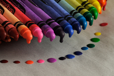 colors, crayons, rainbow