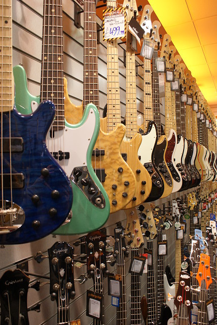 colourful, fender, guitars, jizzamouse, lakland