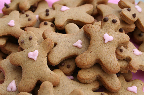 cookies, cute, delicious, food, gingerbread, heart, love, photography, sweet