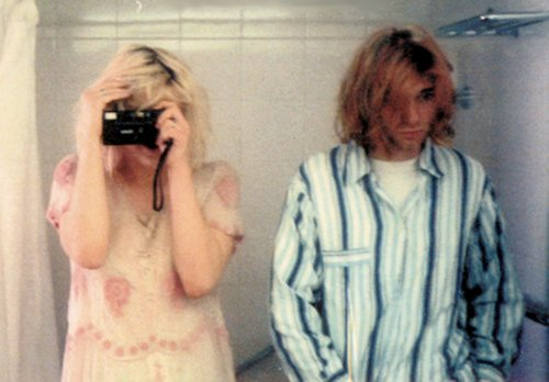 couple, courtney love, cute, kurt cobain, photography