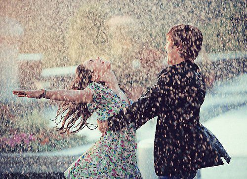 couple, cute, love, nice, rain, sweet