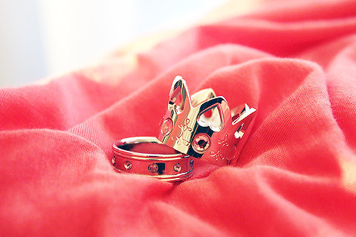 crown, fashion, red, ring
