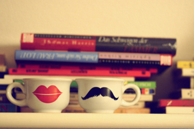 cups, cute, love happy, mustache