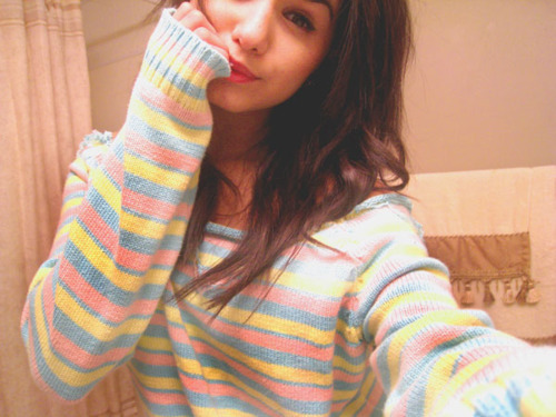 cute, fashion, girl, jumper, rainbow