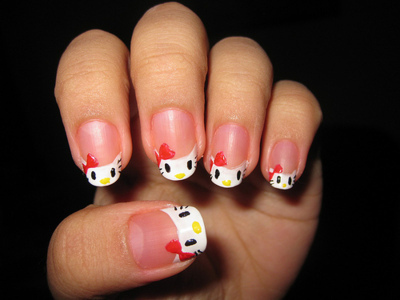 cute, finger, girl, hands, hello kitty