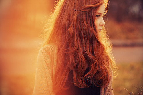 cute, ginger, girl, hair, photo