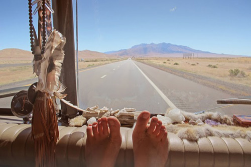 desert, driving, feet, girl, hippie