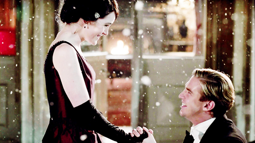downton abbey, lady mary crawley, mary and matthew, mary crawley, matthew crawley, snow, snowing