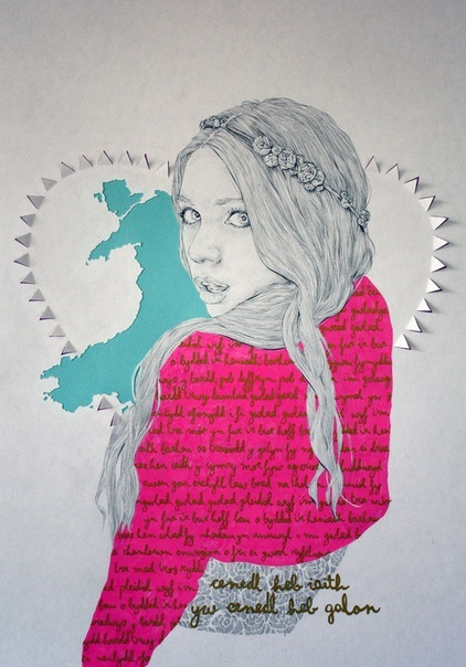 drawing, girl, illustration, niki pilkington