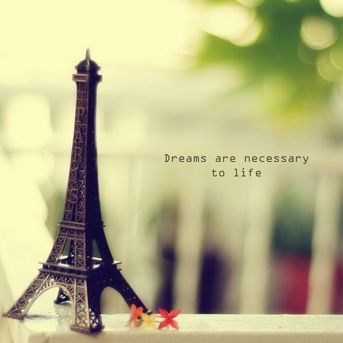 dream, dreamer, dreams, eiffel, hope, life, necessary, paris
