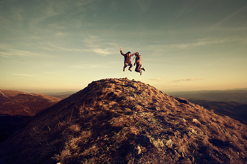 dream, free, happiness, happy, hapy, hill, jump, landscape, mountain, mountains, nature, people, photography
