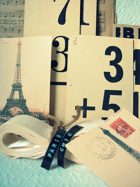 eiffel tower, france, letter, paris, postcard, vintage