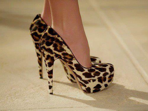 fashion, girly, heels, high heels, leopard