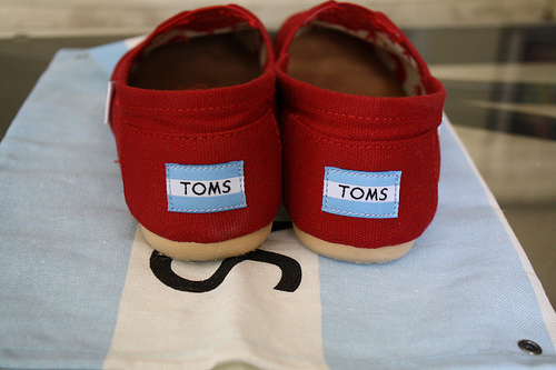 fashion, red, shoe, toms