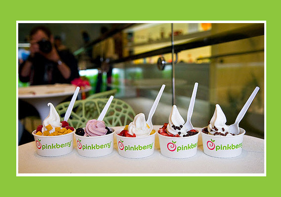 food, frozen, frozen yogurt, pinkberry, yummy