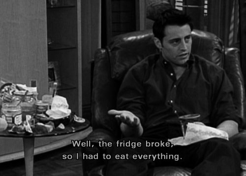 food, funny, haha, joey, joey tribbiani, love him
