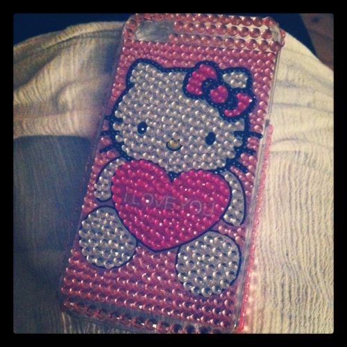 gift, heart, hello, hello kitty, i love you, iphone, iphone 4, kitty, love, loveit, pink