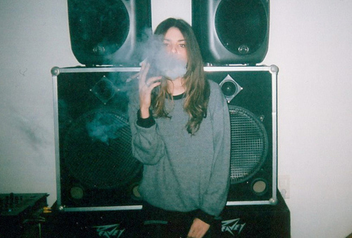 girl, indie, smoke