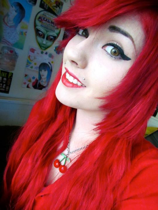 girl, leda monsterbunny, pretty, red hair, scene queen