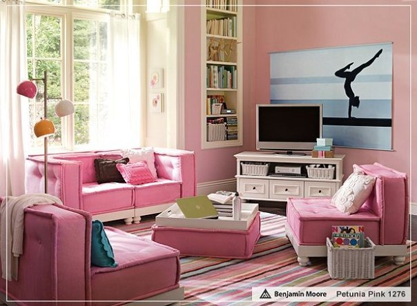 girly, interior, pink, pink room girly, room
