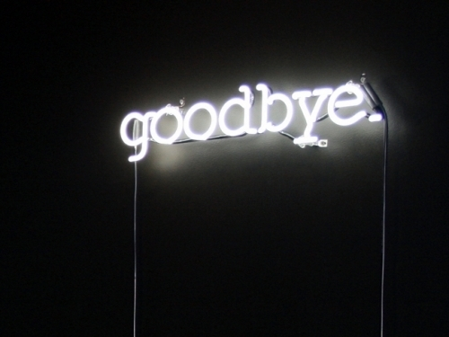 goodbye, light, neon lights, text