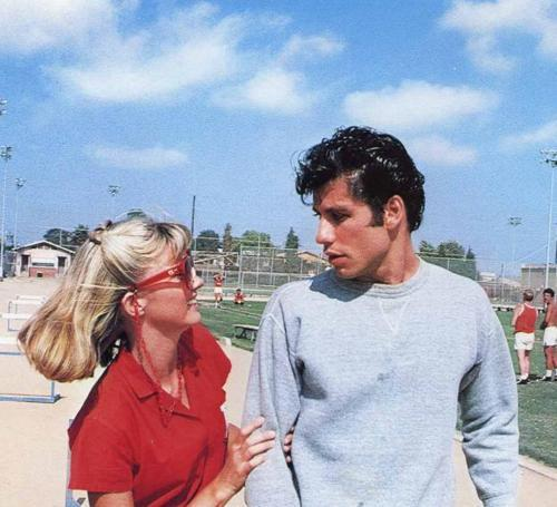 grease, john travolta, movie, olivia newton john, vintage