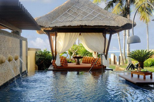 hot, luxury, palms, pool, sea