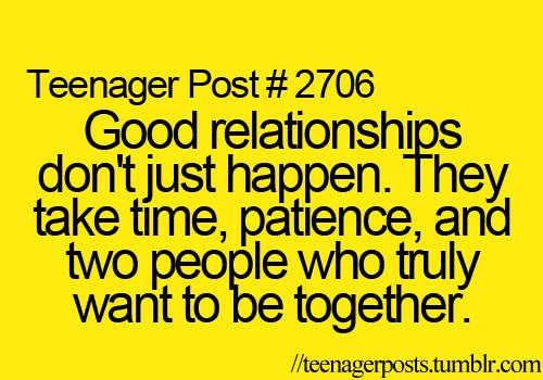 life, relationships, teenager post
