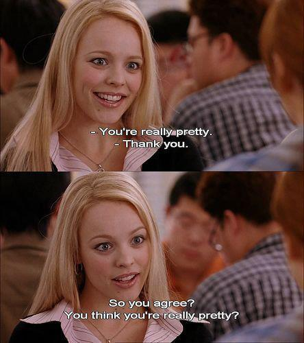 lindsay lohan, mean girls, rachel mcadams, text