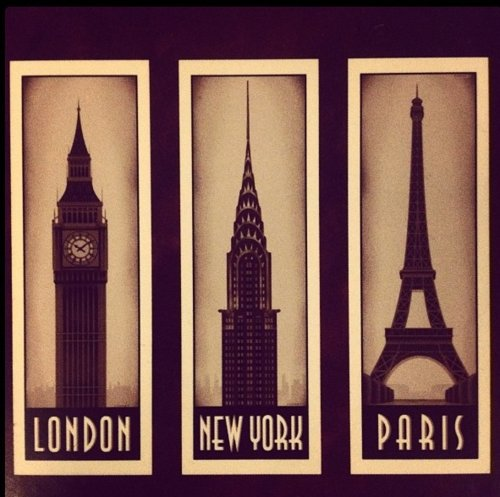 london, new york, paris
