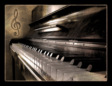 music, old, old piano, piano
