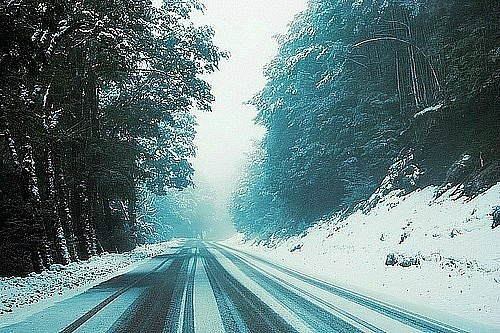 nature, road, snow, winter