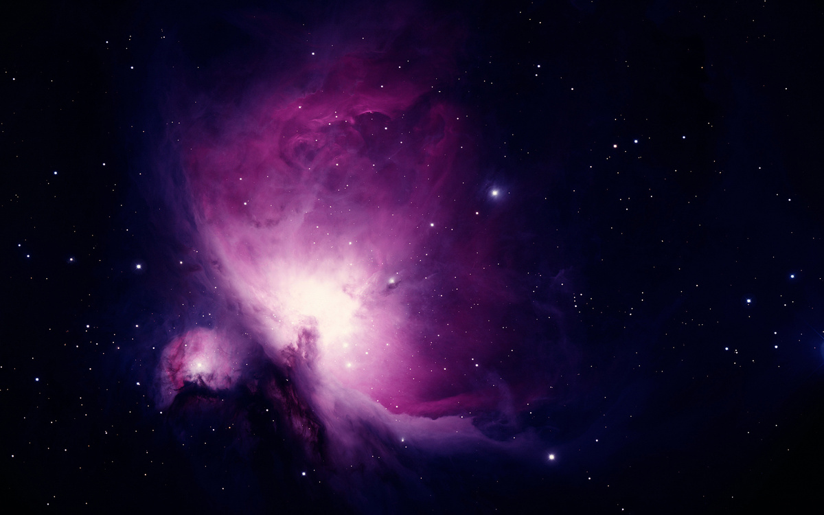 nebula, purple, space