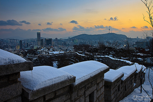 seoul, snowy, south korea