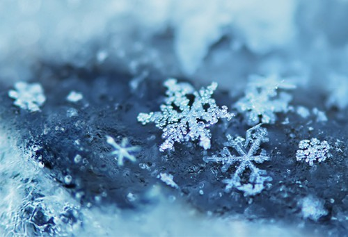 snow, snowflake, winter