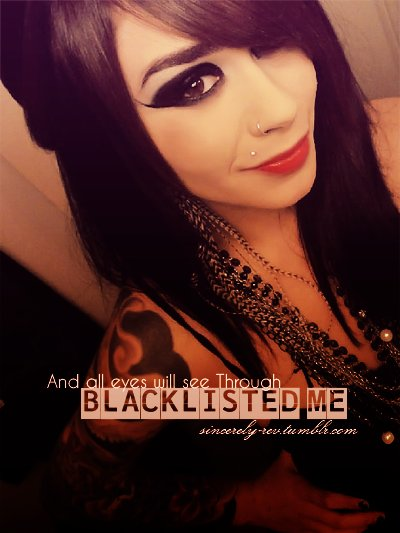 : lexus amanda, beautiful, black, blacklisted me, emo