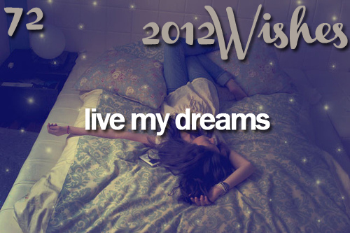 2012, 2012 wishes, bed, before i die, dream, dreams, follow my dreams, girl, life, live, live my dreams, text, wish, wishes