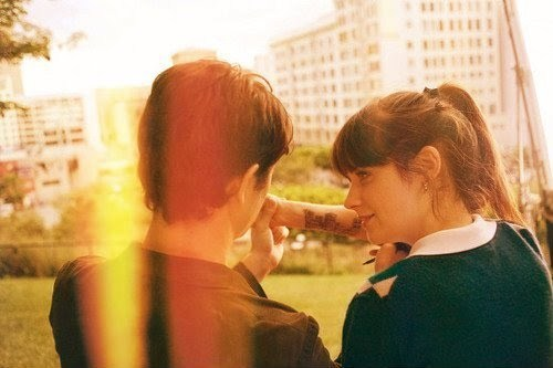500 days of summer, couple, cute, girl, joseph gordon levitt, love, movie, summer, zooey deschanel