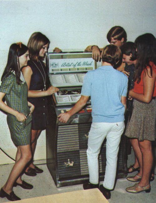 60s, jukebox, teenagers, vintage