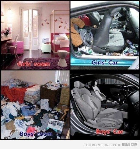 9gag, boy, boys vs girls, car, fun