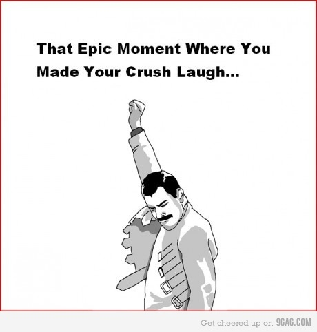 9gag, :)), crush, crush laugh love bla, epic, epic moment, epicness, funny guy, happy, lol, love, relation-shit, triumph, win