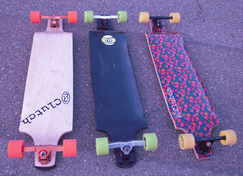 9sector, clutch, flowers, green, longboard