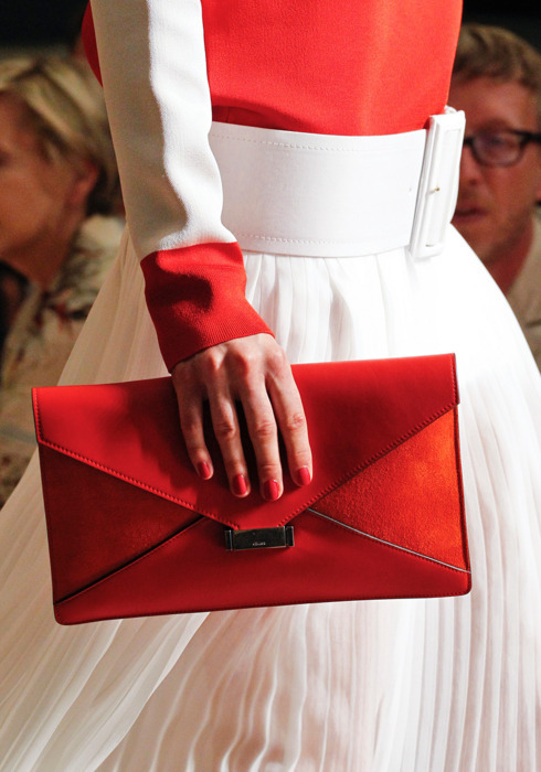 accessoires, celine, cute, fashion, love, nails, purse, red, runway, spring 2012, ss 2012