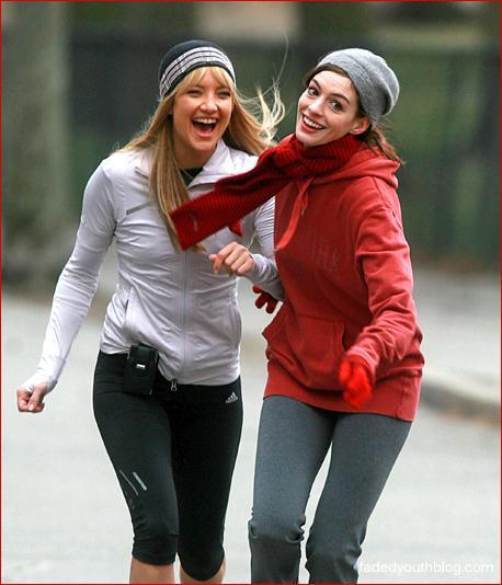 actresses, anne hathaway, bride wars and kate hudson