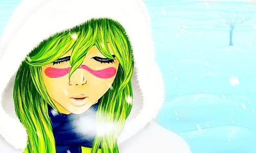 adorable, anime, beautiful, bleach, cute, girl, gorgeous, green, nel, neliel, neliel tu, snow, sweet