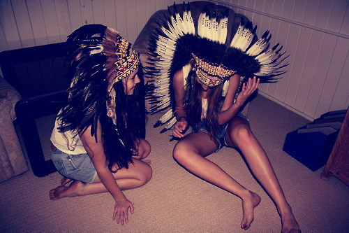 african, around the teenagers, black, dayak, girls, headdress, indian, native american, photography