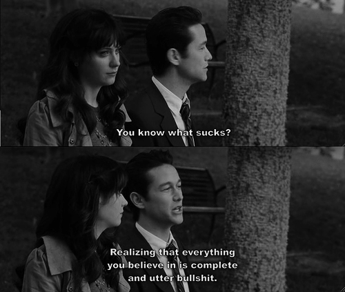 agreed, black and white, boy, couple, friends, fun, funny, girl, hate, hurt, it sucks, kiss, life, live, love, movie, quote, really, suck, sucks, talk, tree, zoey deschanel